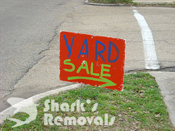 Yard sale sign